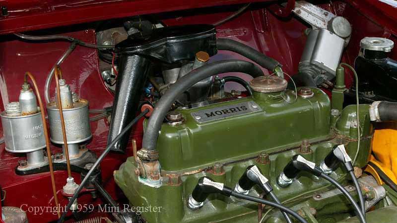 variations engine bay  mini register